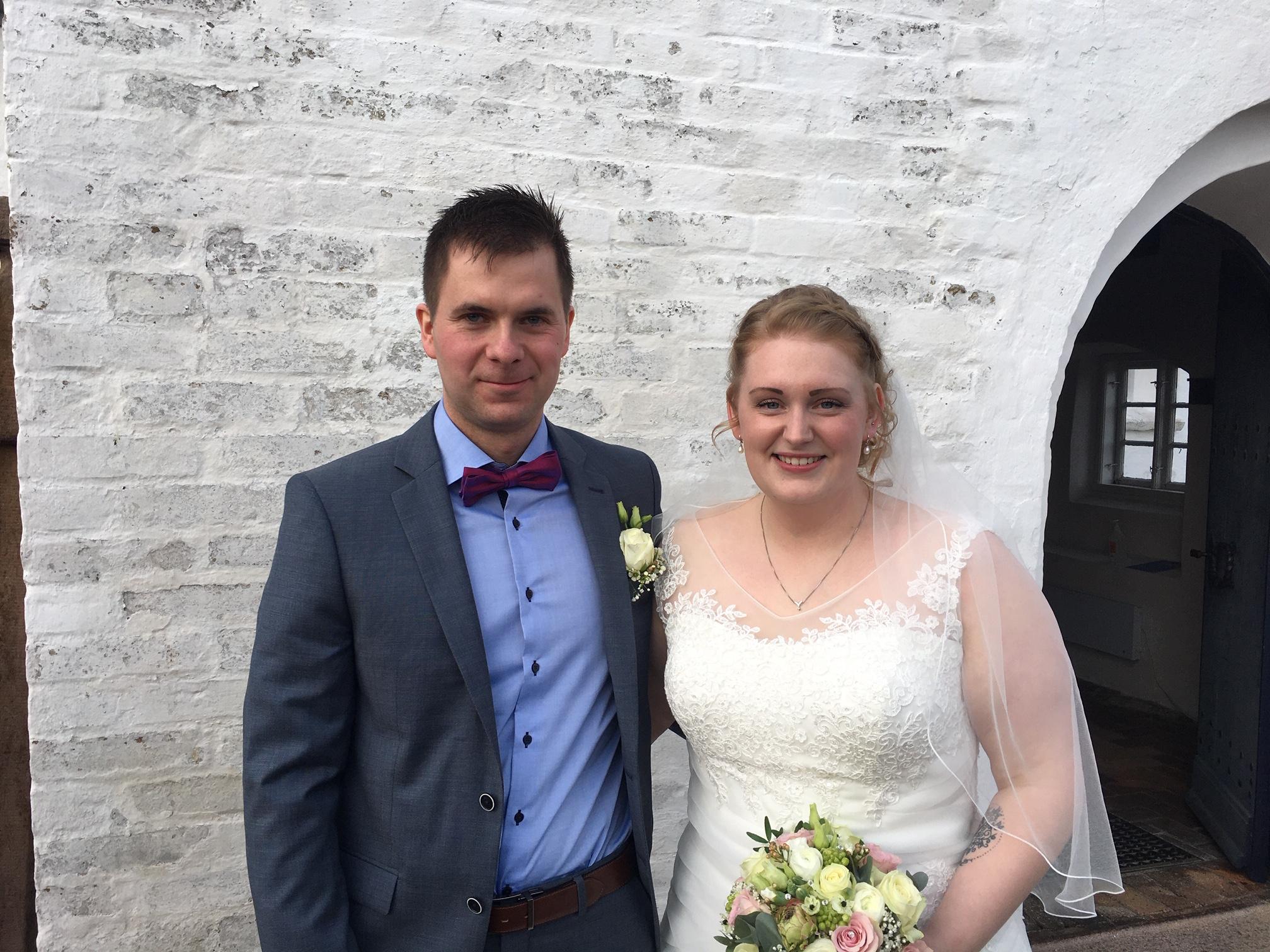 Vielse-7. marts 2020  i Albæk kirke: Peter Højen-Sørensen og Jeanette Østergaard Trangeled