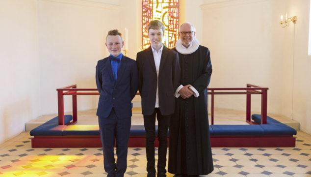 Tillykke med konfirmationen – Christian og Magnus