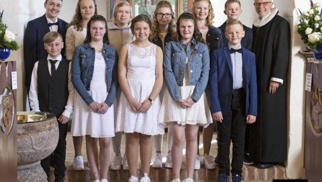 Konfirmation i Albæk kirke den 6. maj 2018